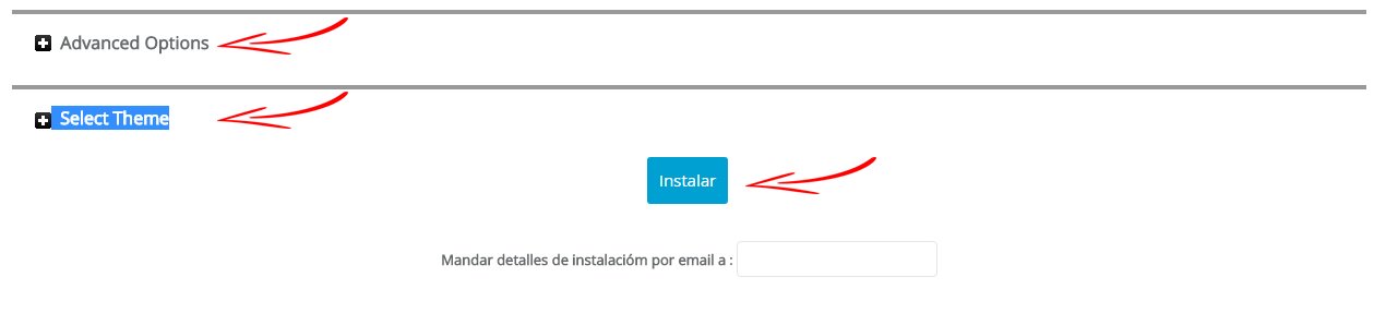 instalar el wordpress en softaculous