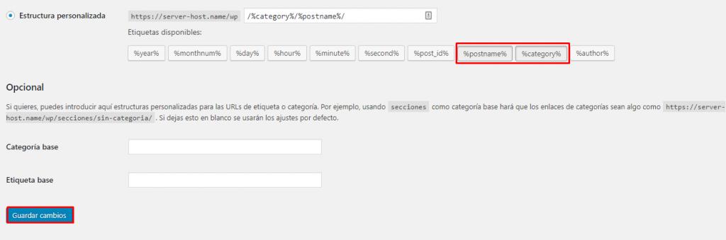 guardar estructura personalizada en wordpress